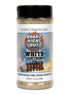 Boars Night Out - White Lightning with Double Garlic Butter