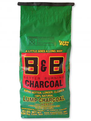 B&B - Hickory Lump Charcoal - 20lb