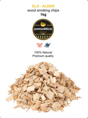 PremiumBBQ Smoking Chips - Els / Alder 1.0kg