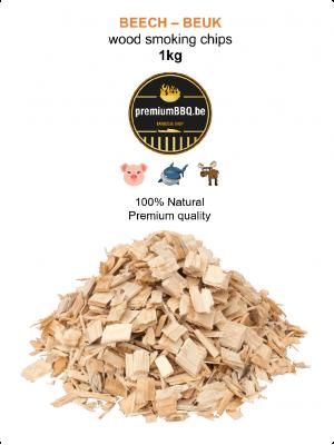 PremiumBBQ Smoking Chips - Beuk / Beech 1.0kg