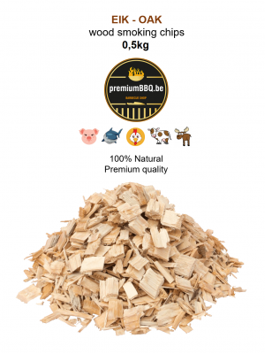 PremiumBBQ Smoking Chips - Eik / Oak 0.5kg