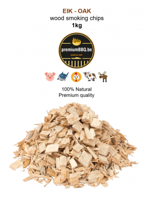 PremiumBBQ Smoking Chips - Eik / Oak 1.0kg