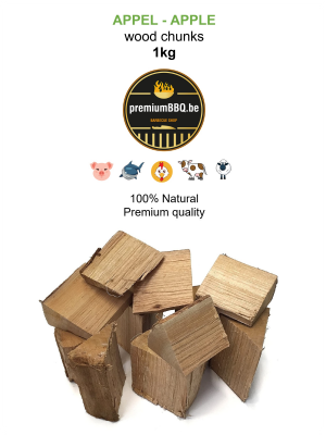 PremiumBBQ Wood Chunks - Appel / Apple 1.0kg