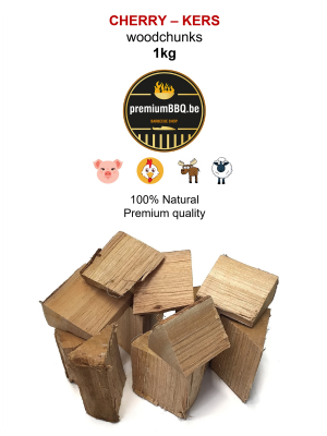PremiumBBQ Wood Chunks - Kers / Cherry 1.0kg