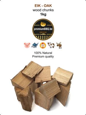 PremiumBBQ Wood Chunks - Eik / Oak 1.0kg