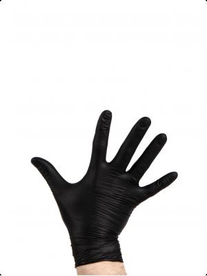PremiumBBQ - Nitril wegwerphandschoenen L - zwart