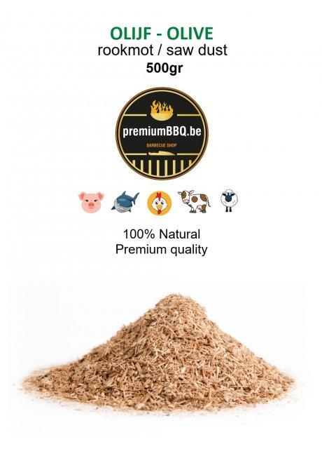 PremiumBBQ - Rookmot Olijf / Olive 0.5kg