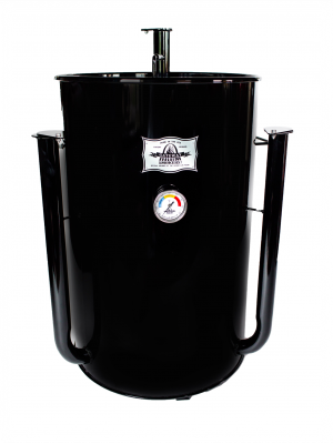 Gateway Drum Smoker - 55Gl - black - PLATE