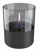 Tenderflame - Lilly Glass Dark Grey - 10cm